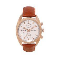 Ashton Carter Multi Function White / Brown Watch - AC-1002-B-2 Year MANUF WRNTY