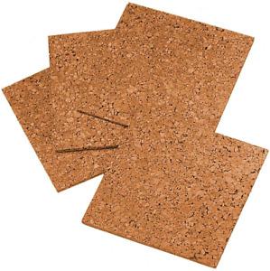 "Quartet Cork Tiles, Cork Board, 12"" x 12"", Corkboard, Wall Bulletin Boards, 4"