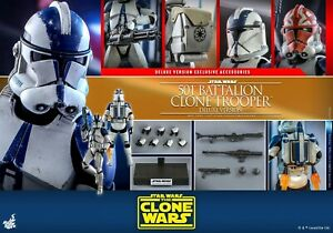 Hot Toys Star Wars The Clone Wars 1/6 501st Battalion Clone TrooperTM DX TMS023