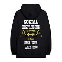 Social Distancing 2 Meters 6 Feet Apart Novelty Hoodie, Social distancing 2020