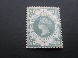 GB STAMP QUEEN VICTORIA - SG211  1/- DULL GREEN - FINE L.H. MINT