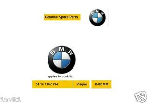 New Genuine BMW E81 E87 F07 F10 F11 E63 E64 F06 F12 BMW Emblem 51147057794