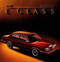 1984 Chrysler E Class Original Car Sales Brochure Catalog - New Yorker like