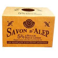 Lot de 4 savons d'Alep 5% laurier