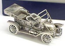 Circa Early 1970's Franklin Mint Sterling Silver 1911 Stanley Steamer With Box