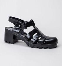 Block Patternless Rubber Sandals & Beach Shoes for Women