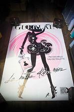 GUERLAIN LA PETITE ROBE NOIRE H  4x6 ft Shelter Original Vintage Fashion Poster
