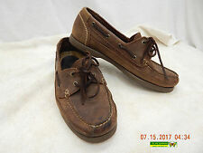 ST. JOHN'S BAY DECK SHOES! 10.5M! SLIGHT DISTRESS! USED! SAND BARGE WEAR! AS IS!