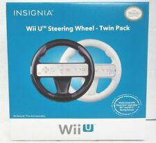 NEW INSIGNIA Wii U Steering Wheel - Twin Pack - Black & White NS-GWIISW101