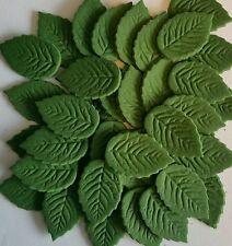 36 x Small Edible Sugar Paste Leaves