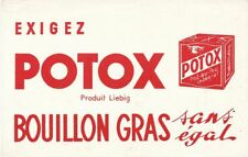 ANCIEN BUVARD PUBLICITAIRE BLOTTER VLOIPAPIER LIEBIG  POTOX BOUILLON GRAS