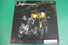 HONDA MOTO CB600F HORNET MOTORCYCLE PUBBLICITA DEPLIANT BROCHURE CATALOG