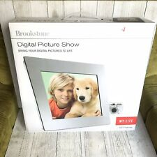 "New Brookstone Digital Picture Show My Life 10"" Frame Photo Music And Video"