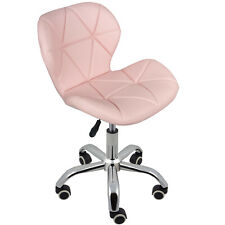 Charles Jacobs Cushioned Swivel Office Chair with Wheels and Lift - Pink
