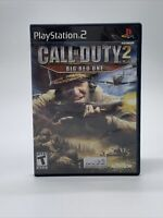 Call of Duty 2 Big Red One Sony PlayStation 2 PS2 Video Game Complete Tested CIB