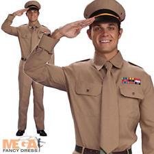 Da Uomo FORZE ARMATE ESERCITO WW2 guerra privata Soldato Costume 40V anni/'50
