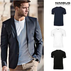 Nimbus Danbury Pique Short Sleeve Tee NB72M - Men's Crew Neck Plain T-Shirt