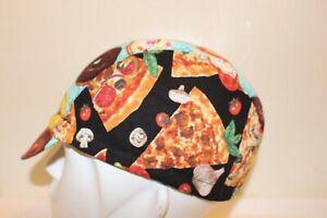 CYCLING CAP DONUTS PIZZA HOTDOG HANDMADE IN USA   S M L