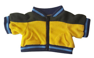 "Yellow and Black Fleece with Blue Trim Teddy Bear Clothes Fits Most 14""-18"" Buil"