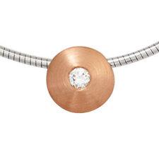 Natürliche Halsketten aus mehrfarbigem Gold mit Diamanten