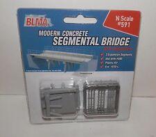 BLMA N Scale Modern Concrete Segmental Bridge (use with #590) #591 NIP