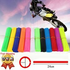 72x Universal Wheel Spoke Wraps Motorcycle Covers Pipe Skins Rim Guard Protector