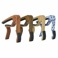4 Color Wood Grain Quick Change Clamp Capo For Classic Guitar Acoustic Electric