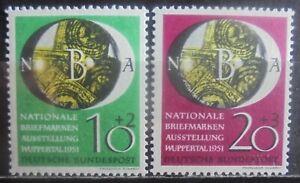 GERMANY (West) 1951 National Philatelic Exhibition, Set of 2 MNH