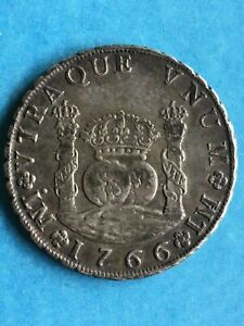 1766 8 Reales, Lima, Peru, one dot, Assayers J.M.; Choice, Original, Toned, VF++