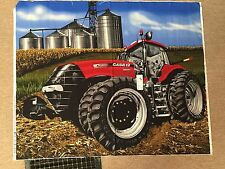 """CASE IH Construction Tractor with Grain Bins Quilt Fabric 45 x 35"""" - PANEL"""
