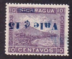 Nicaragua 176a 10c overprinted 15c Inverted error 1904 Momotombo mint NHOG VF