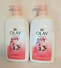 Olay Fresh Outlast Cooling White Strawberry & Mint Body Wash 30fl oz Pump 2pk
