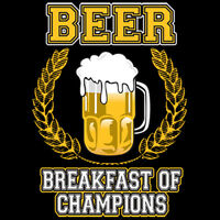 Beer Breakfast Of Champions Party Drinking Funny T-Shirt Tee