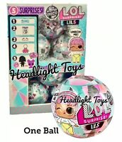 1 LOL Surprise LILS Ball Lil Sister Brother Doll Fuzzy Pets Winter Disco In Hand