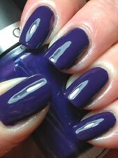 Cuccio Colour LONDON UNDERGROUND Dark Navy Blue Purple Nail Polish Lacquer .5oz