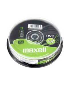 Maxell DVD+R Recordable Blank DVD Discs In Sleeves 1/5/10 Pack 4.7GB 120 Min 16x