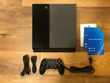 Sony PlayStation 4 500GB Console - Jet Black - W/ Controller, Great Condition!