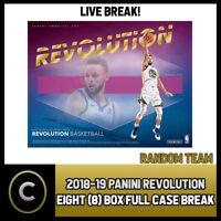 2018-19 PANINI REVOLUTION 4 BOX (HALF CASE) BREAK #B046 - RANDOM TEAMS -