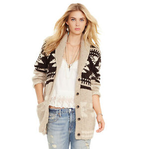Women's Ralph Lauren Denim & Supply Hand Knit Southwestern Cardigan - Size XS