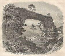A5580 Suisse Saxonne - Le Prebischthor - Xilografia Antica del 1850 - Engraving