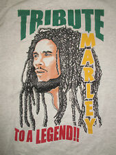 "BOB MARLEY ""Tribute to a Legend ... Life is one big road ..."" (XL) T-Shirt"