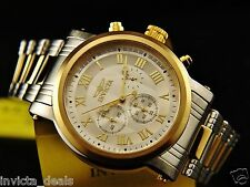 Invicta Mens Specialty W/Dual Time Complication Chronograph 18K Two Tone Watch