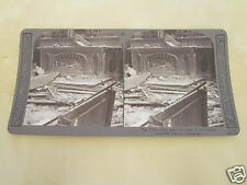 WW1 STEREOVIEW - HIGH ALTER AMID THE RUINS OF THE FORMER BEAUTIFUL FRENCH CHURCH