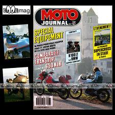 MOTO JOURNAL N°787 BMW K 100 LT HONDA XL 600 V TRANSALP KAWASAKI 650 KLR 1987
