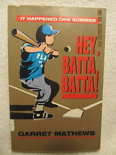 Hey, Batta, Batta! Vintage Kids' Baseball Book Signed by Author Evansville IN