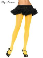 Leg Avenue 7300 Yellow costume nylon tights stockings hosiery opaque 60s