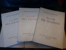 1946. MAETERLINCK, VIE DES FOURMIS, ABEILLES, TERMITES. Coffret. Numéroté. RARE