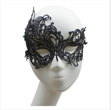 Lace Face Mask Black Masquerade Dance Ball Fancy Dress Party Black Cosplay New
