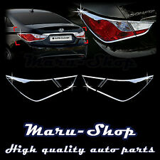 Chrome Rear Tail Light Lamp Cover Trim for 11~14 Hyundai Sonata/i45