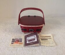 "Longaberger 2014 Mini Santa Belly Cake Basket Collector Club Riser ""Cute"" Vgc!"